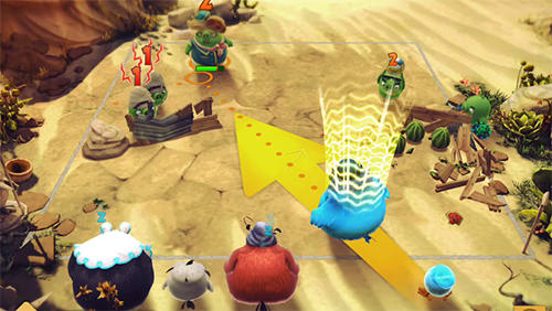 Screenshots vom Spiel Angry birds: Evolution für iPhone, iPad oder iPod.