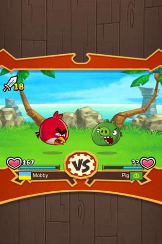 Screenshots vom Spiel Angry birds: Fight! für iPhone, iPad oder iPod.