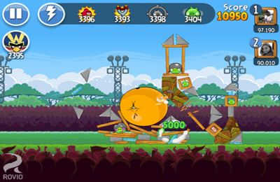 Écrans du jeu Angry Birds Friends pour iPhone, iPad ou iPod.