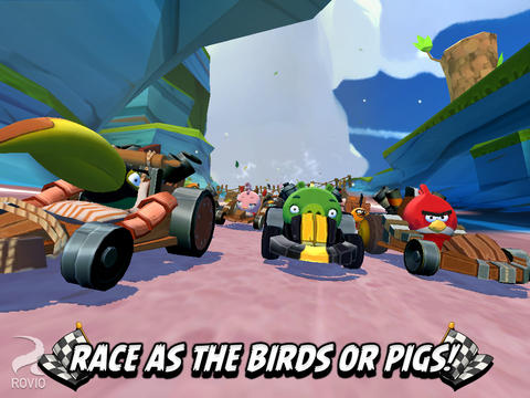 Descarga gratuita de Angry Birds Go! para iPhone, iPad y iPod.