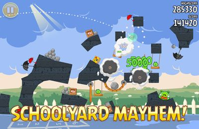 Download Angry Birds goes back to School iPhone free game.