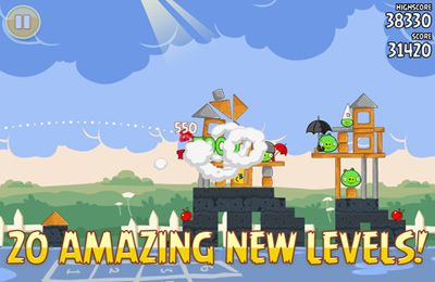 Screenshots of the Angry Birds goes back to School game for iPhone, iPad or iPod.