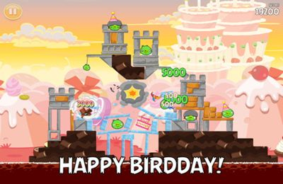 Kostenloser Download von Angry Birds HD: Birdday Party für iPhone, iPad und iPod.