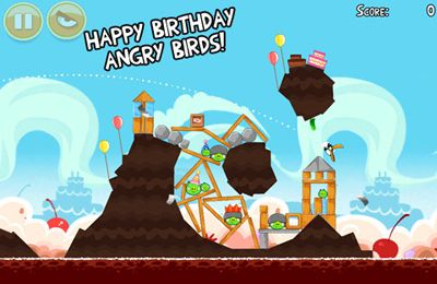 Screenshots of the Angry Birds HD: Birdday Party game for iPhone, iPad or iPod.
