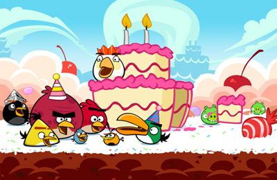 Écrans du jeu Angry Birds HD: Birdday Party pour iPhone, iPad ou iPod.