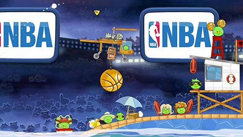 Download Angry birds: NBA the finals iPhone free game.