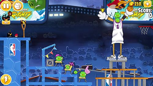 Descarga gratuita de Angry birds: NBA the finals para iPhone, iPad y iPod.