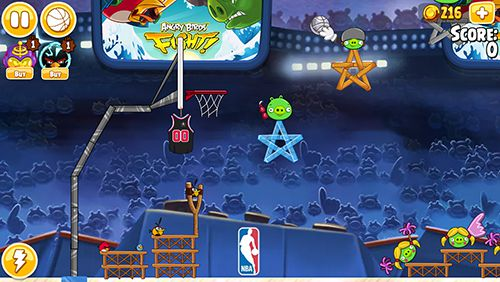 Screenshots vom Spiel Angry birds: NBA the finals für iPhone, iPad oder iPod.