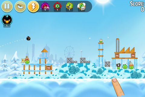 Kostenloses iPhone-Game Angry Birds: On Finn Ice herunterladen.
