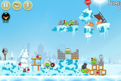 Screenshots of the Angry birds: On Finn ice game for iPhone, iPad or iPod.