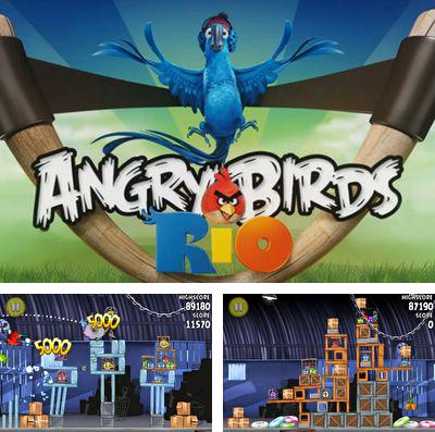 In addition to the game Happy Dinos for iPhone, iPad or iPod, you can also download Angry birds Rio for free.