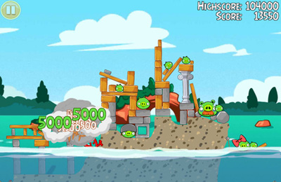 Download Angry Birds Seasons: Water adventures iPhone free game.