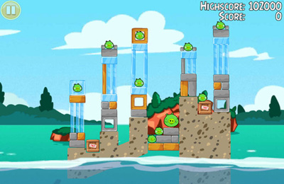 Kostenloser Download von Angry Birds Seasons: Water adventures für iPhone, iPad und iPod.