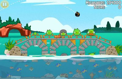 Screenshots vom Spiel Angry Birds Seasons: Water adventures für iPhone, iPad oder iPod.