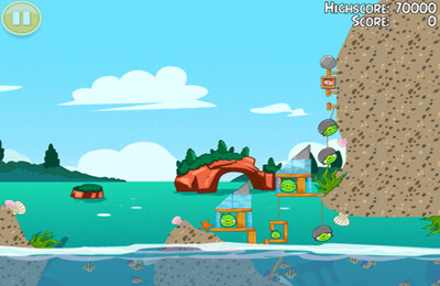 Capturas de pantalla del juego Angry Birds Seasons: Water adventures para iPhone, iPad o iPod.