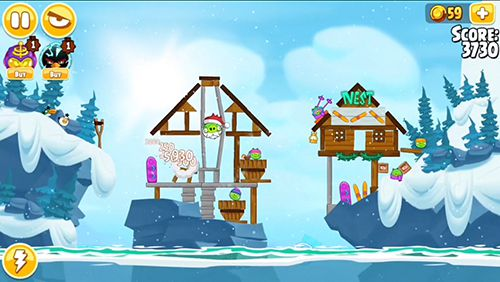 Kostenloses iPhone-Game Angry Birds Seasons: Ski or Squeal herunterladen.