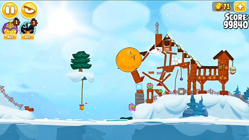 Screenshots vom Spiel Angry birds. Seasons: Ski or squeal für iPhone, iPad oder iPod.