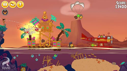 Kostenloses iPhone-Game Angry Birds Seasons: Tropisches Paradies herunterladen.