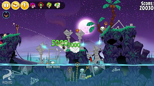 Capturas de pantalla del juego Angry birds seasons: Tropical paradise para iPhone, iPad o iPod.