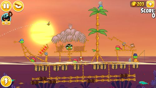 Screenshots vom Spiel Angry birds seasons: Tropical paradise für iPhone, iPad oder iPod.