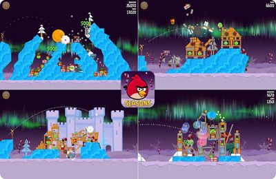 Écrans du jeu Angry Birds Seasons: Winter Wonderham pour iPhone, iPad ou iPod.