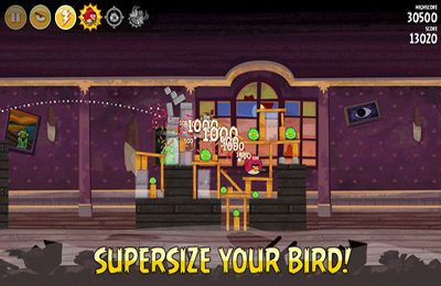 Скриншот игры Angry Birds Seasons: with power-ups на Айфон.