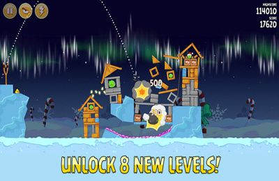 Геймплей Angry Birds Seasons: with power-ups для Айпад.