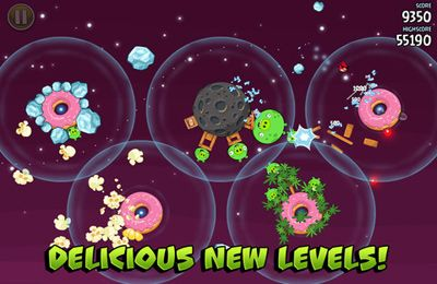 Écrans du jeu Angry Birds Space pour iPhone, iPad ou iPod.