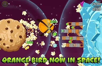 Screenshots of the Angry Birds Space game for iPhone, iPad or iPod.