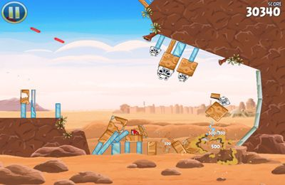 Écrans du jeu Angry Birds Star Wars pour iPhone, iPad ou iPod.