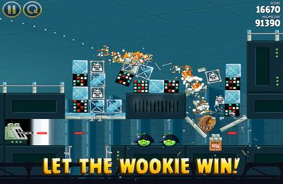 Screenshots of the Angry Birds Star Wars game for iPhone, iPad or iPod.