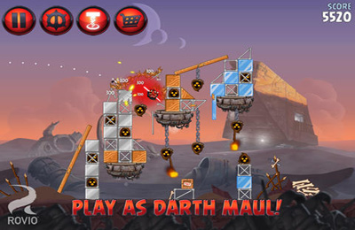Screenshots do jogo Angry Birds Star Wars 2 para iPhone, iPad ou iPod.