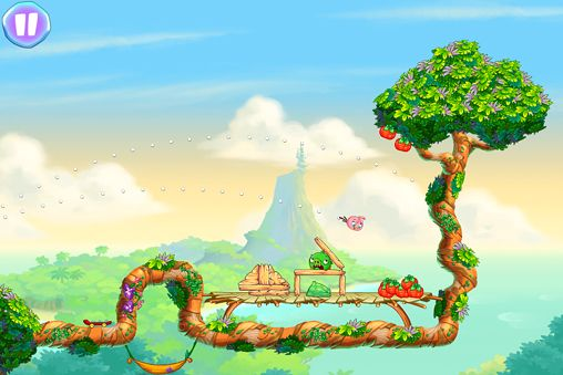 Capturas de pantalla del juego Angry birds: Stella para iPhone, iPad o iPod.