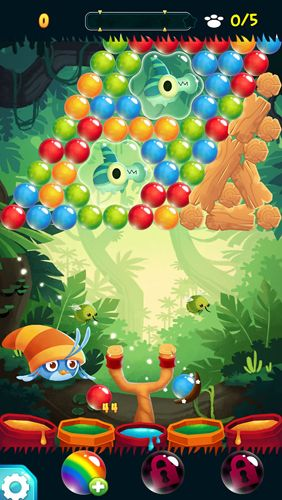 Screenshots of the Angry birds Stella: Pop game for iPhone, iPad or iPod.