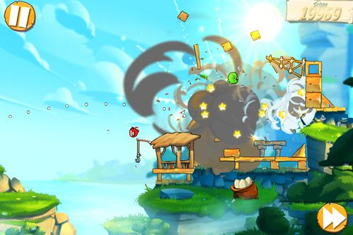 Capturas de pantalla del juego Angry birds: Under pigstruction para iPhone, iPad o iPod.