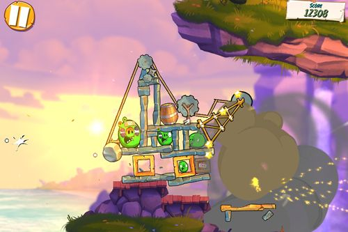 Écrans du jeu Angry birds: Under pigstruction pour iPhone, iPad ou iPod.