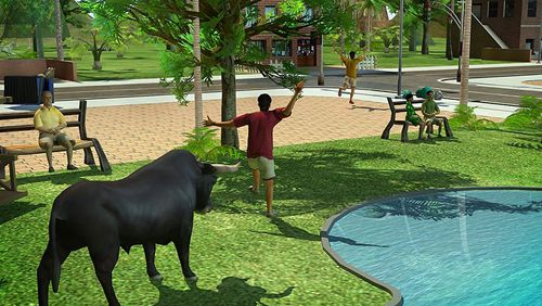 Screenshots of the Angry bull: Revenge 3D game for iPhone, iPad or iPod.