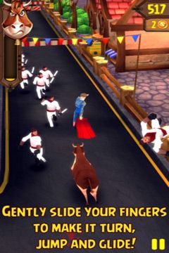 Capturas de pantalla del juego Angry Bulls 2 para iPhone, iPad o iPod.