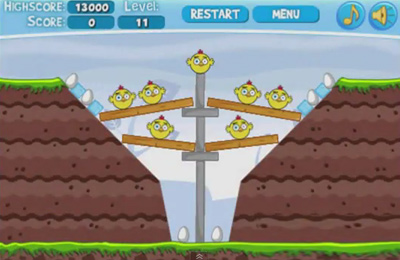 Screenshots do jogo Angry Chickens Pro para iPhone, iPad ou iPod.