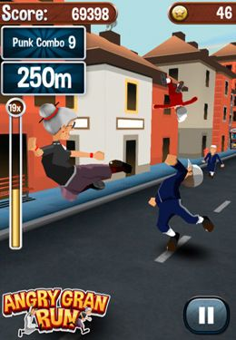 Download Angry Gran Run iPhone free game.