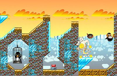 Capturas de pantalla del juego Angry Penguin Catapult para iPhone, iPad o iPod.