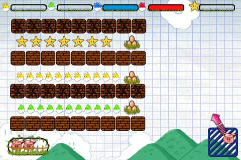 Download Angry pigs iPhone free game.