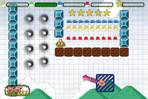 Capturas de pantalla del juego Angry pigs para iPhone, iPad o iPod.