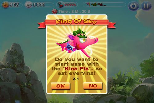 Screenshots vom Spiel Angry pigs: The sequel of the bird für iPhone, iPad oder iPod.