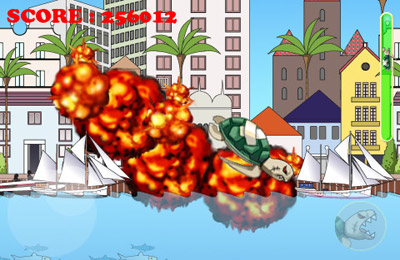 Capturas de pantalla del juego Angry Turtle para iPhone, iPad o iPod.