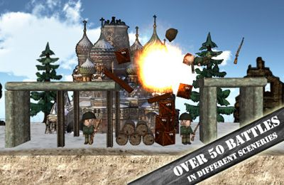 Écrans du jeu Angry World War 2 pour iPhone, iPad ou iPod.