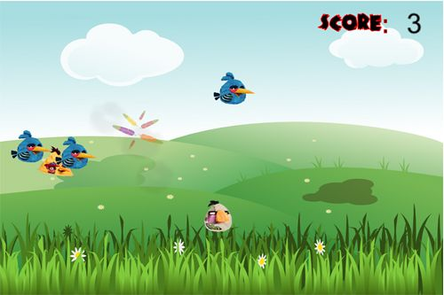 Capturas de pantalla del juego Angry zombie birds para iPhone, iPad o iPod.