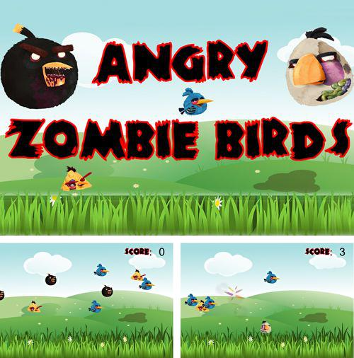 Download Angry zombie birds iPhone free game.