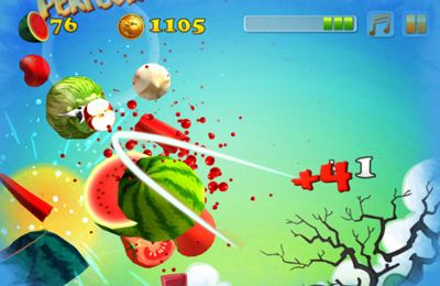 Download Angry Zombie Ninja VS. Vegetables iPhone free game.