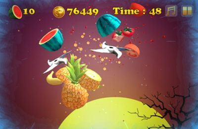 Screenshots vom Spiel Angry Zombie Ninja VS. Vegetables für iPhone, iPad oder iPod.